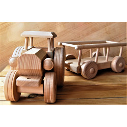 Wooden car Tractor